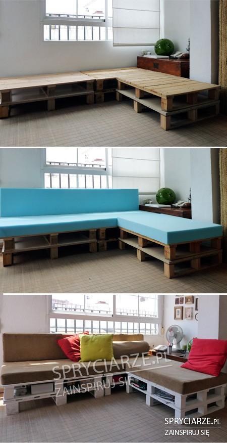 Salonowa sofa z palet