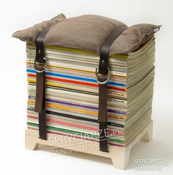 Krzesełko z gazet