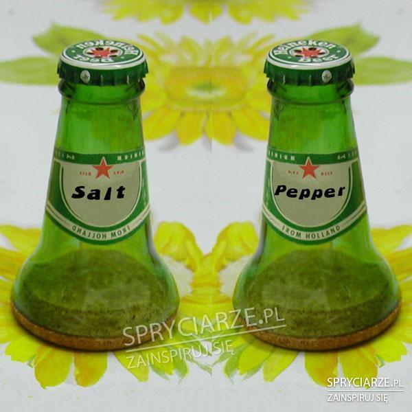 Solniczka z butelki od piwa