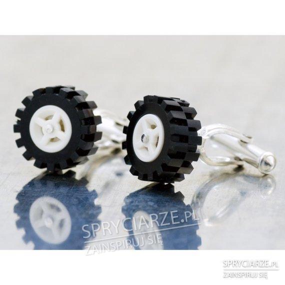Spinki do mankietów - kółka LEGO