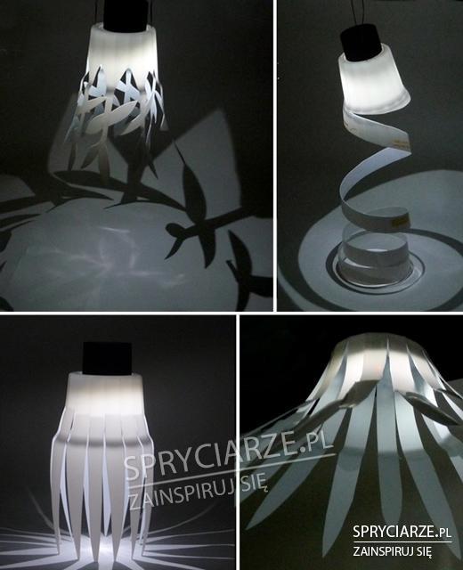 Klosze do lamp z plastikowych kubków