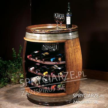 Stojak na wino z beczki