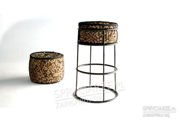 Korkowy stołek barowy