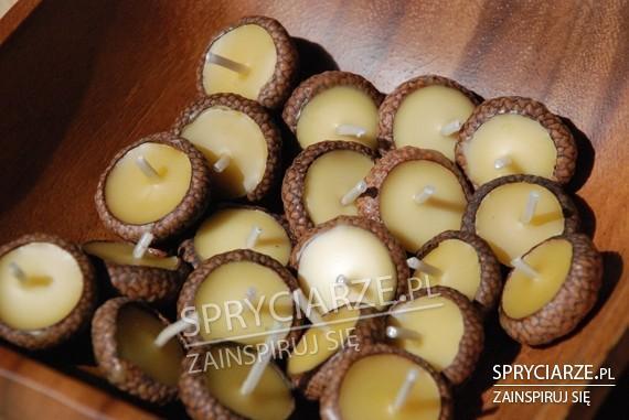 Mini świeczki z żołędzi