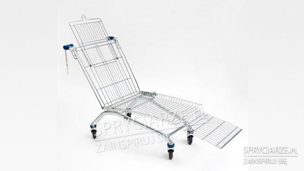 Leżak na kółkach z wózka