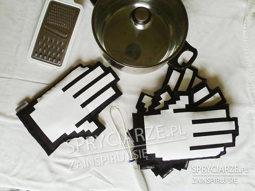 Pikselowe rękawice kuchenne