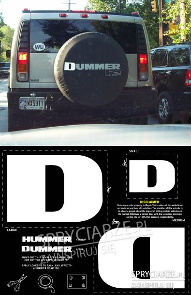 Literka D dla przeciwników Hummerów