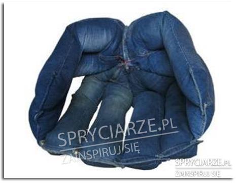 Fotel z jeansów