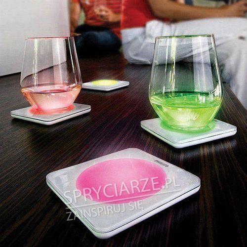 Podświetlane podstawki pod drinki