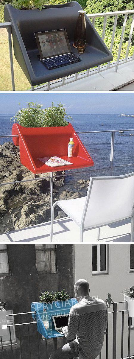 Niezwykle przydatny balkonowy stolik
