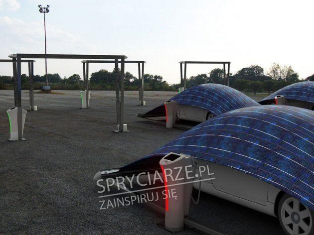 Pokrowce na auta z panelami słonecznymi