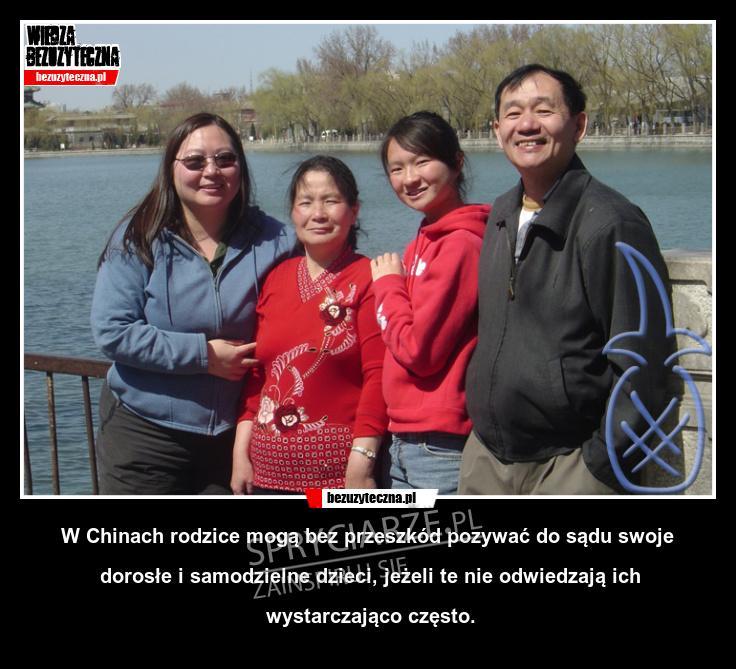Chiny dbają o relacje rodzinne swoich obywateli