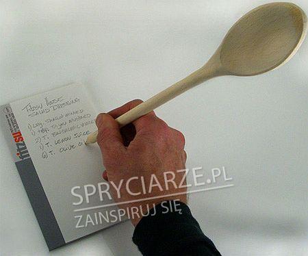 Kuchenny długopis w drewnianej łyżce