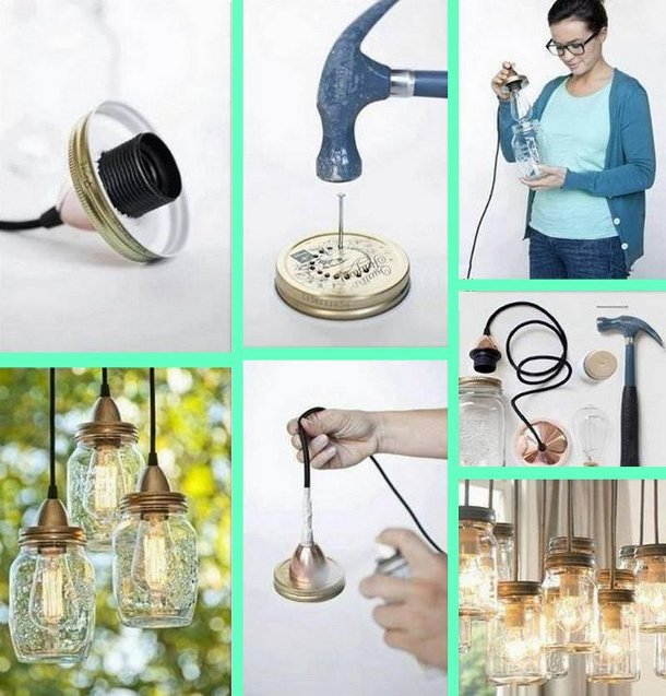 Genialne stylowe lampki DIY
