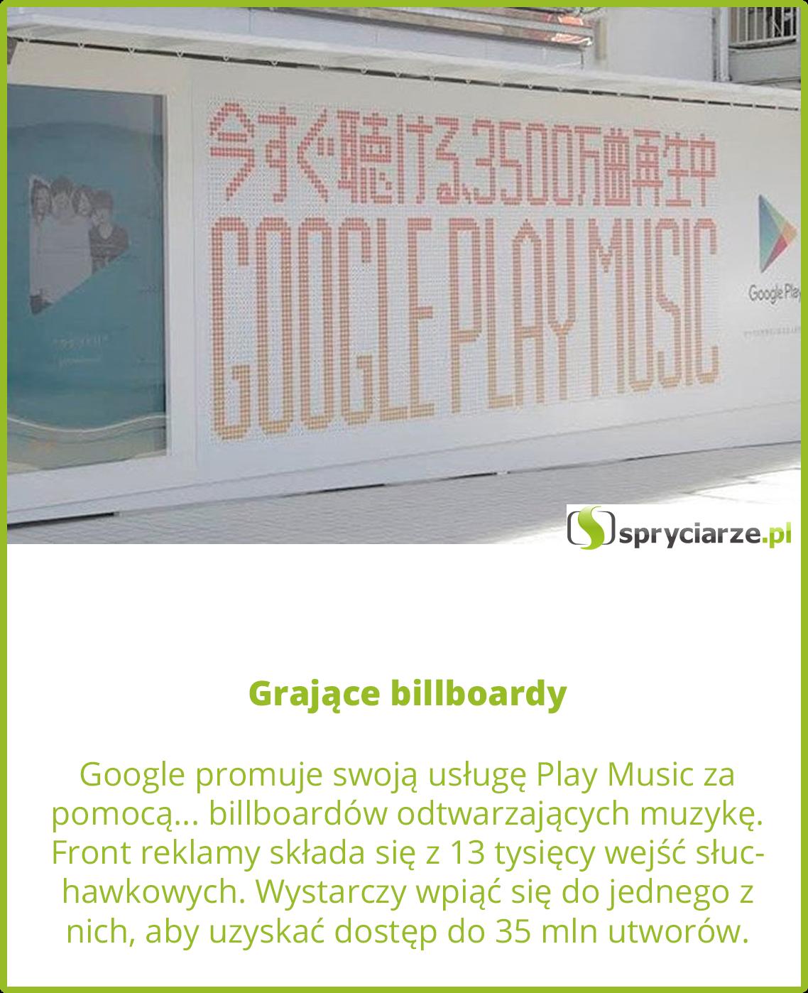 Grające billboardy