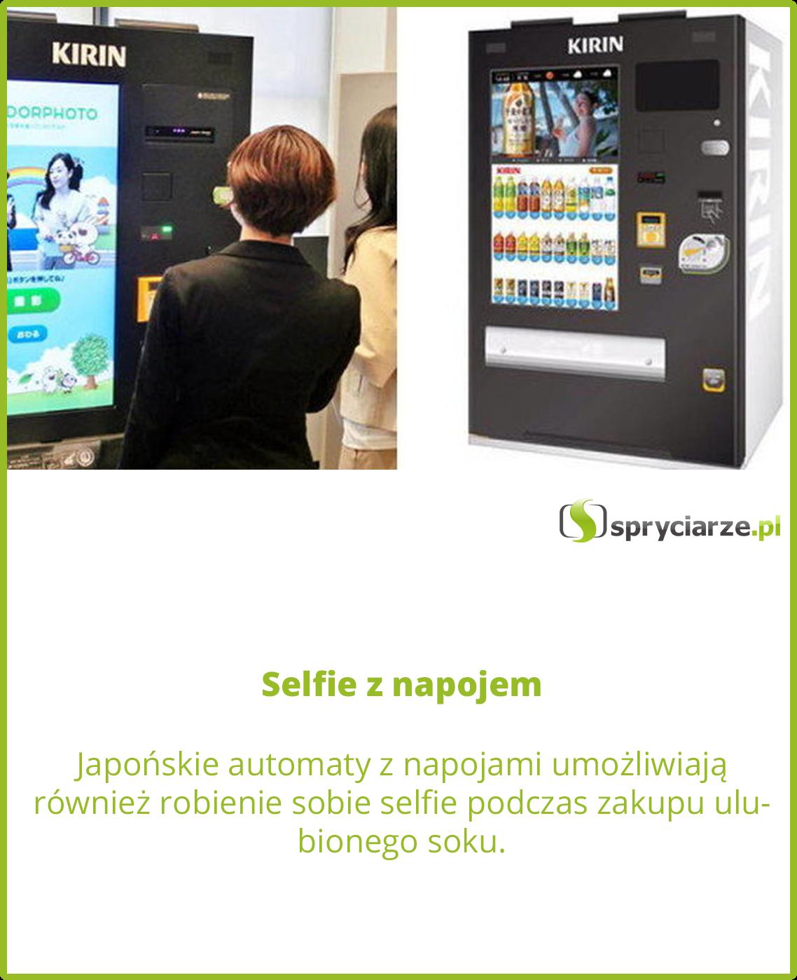 Selfie z napojem
