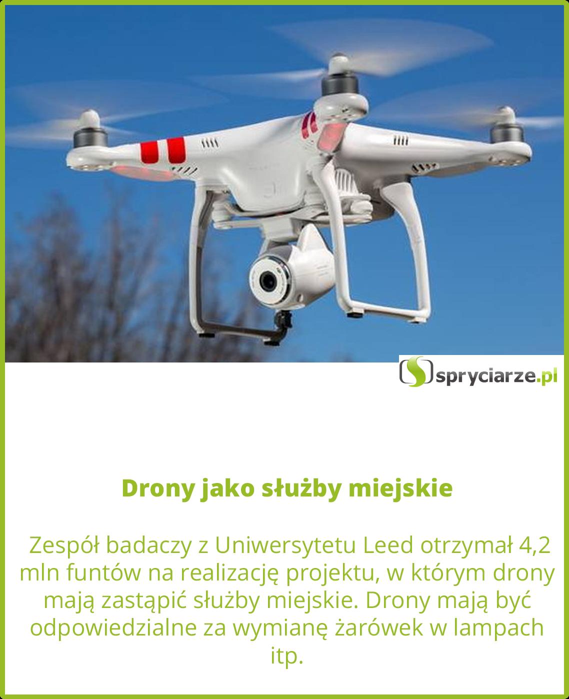 Drony jako służby miejskie