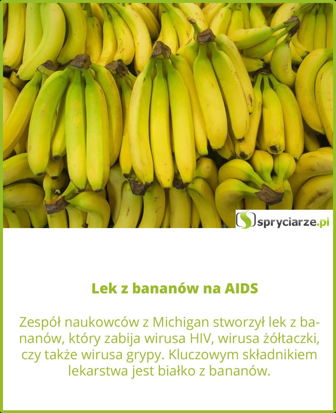 Lek z bananów na AIDS