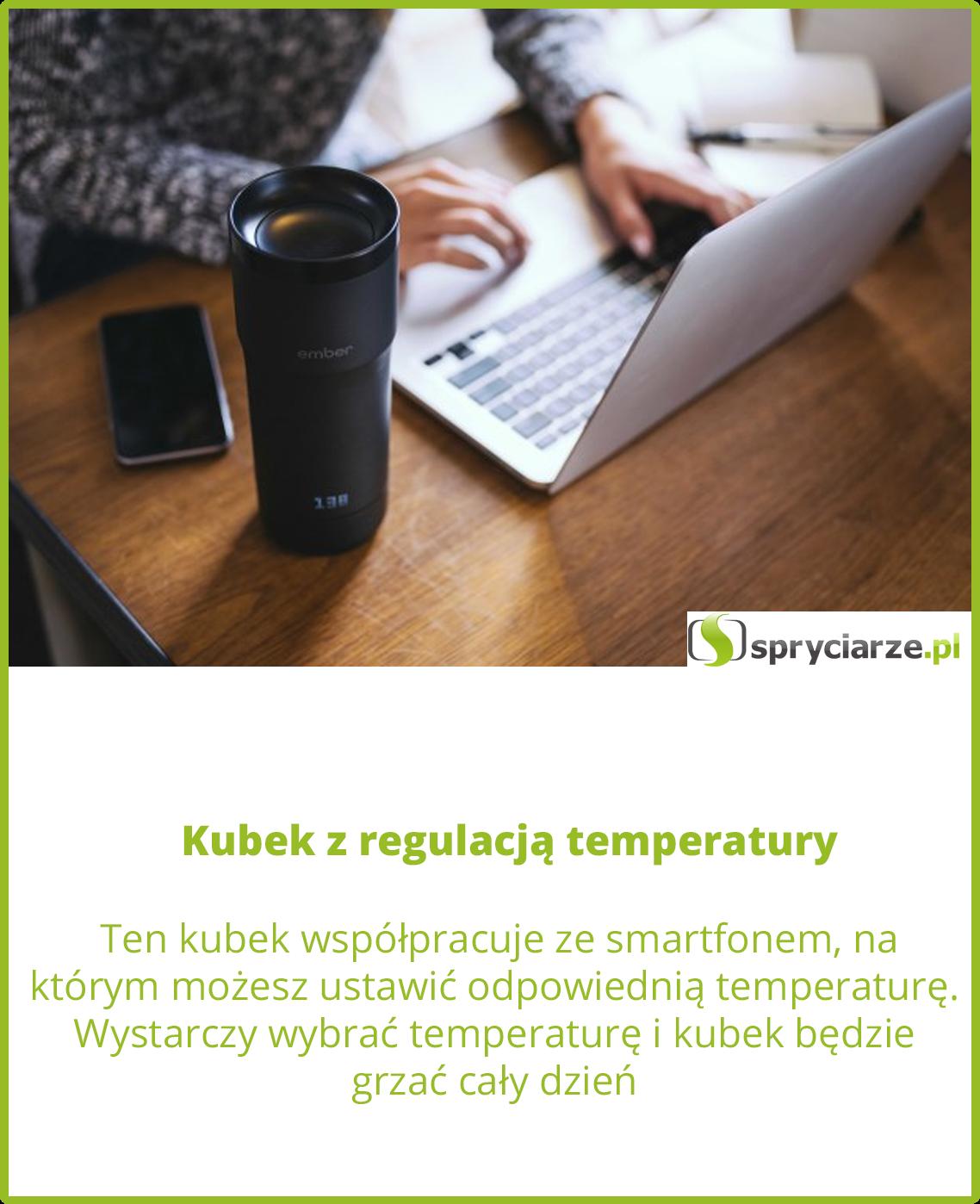 Kubek z regulacją temperatury