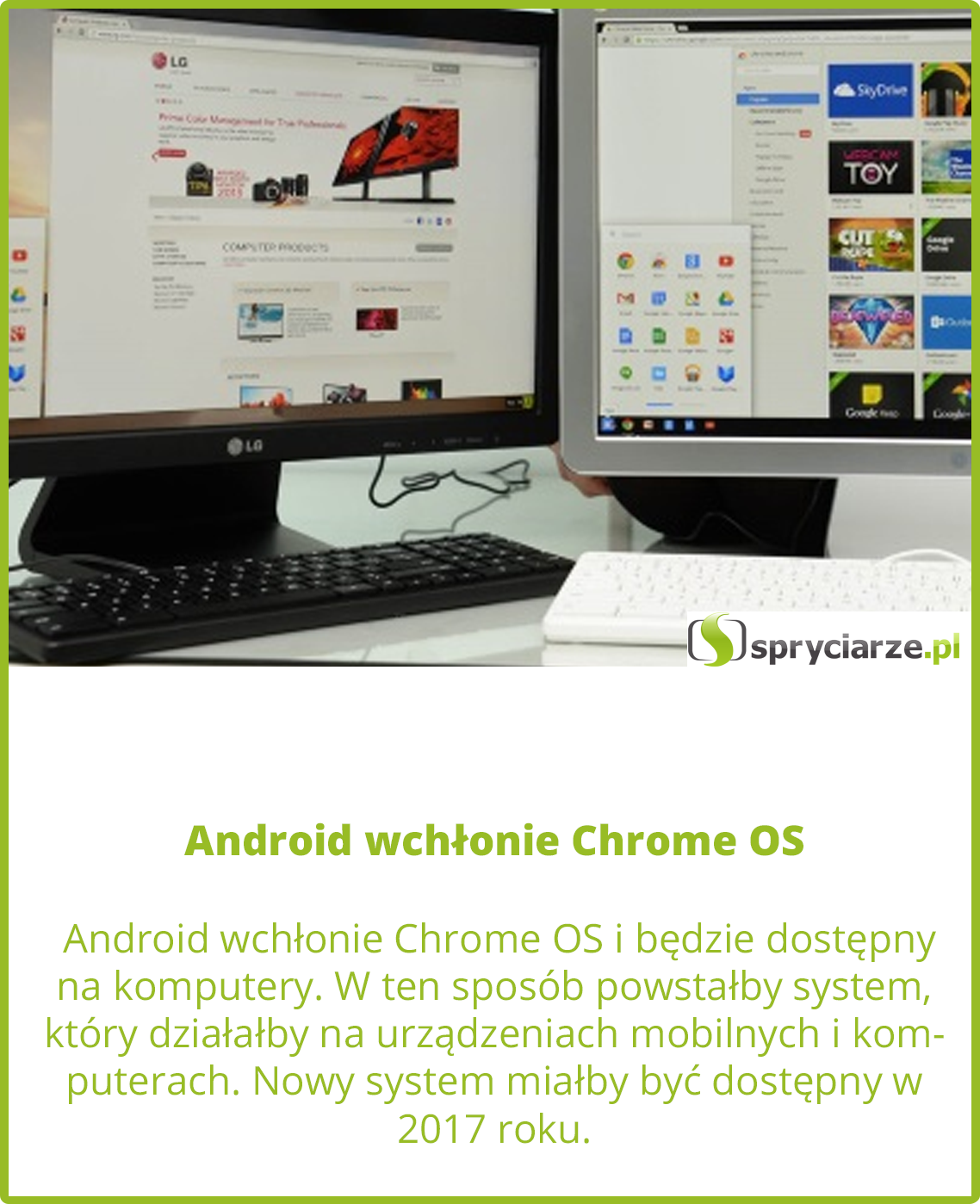 Android wchłonie Chrome OS