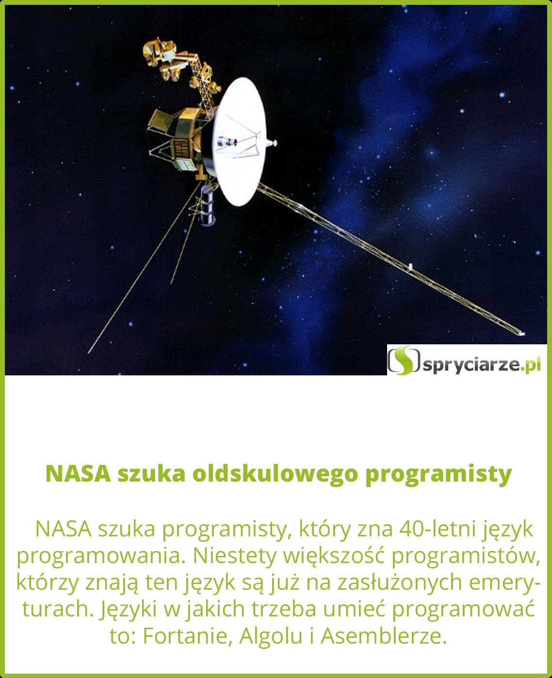 NASA szuka oldskulowego programisty