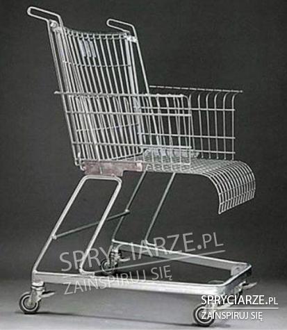 Wygodny wózek sklepowy