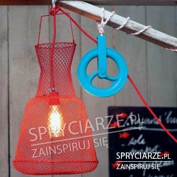 Klosz na lampę z sieci rybackiej