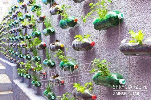 Doniczki z plastikowych butelek