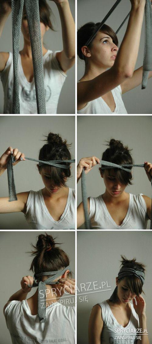 Sposób na zawiązanie włosów