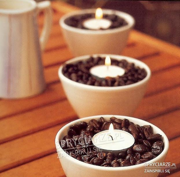 Świeczki w kawie
