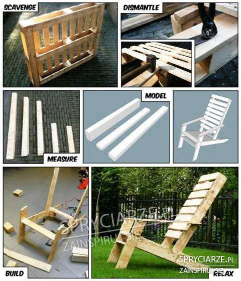 Budowanie krzesła z palety drewnianej