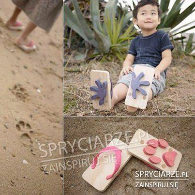 Klapki z wzorem do piasku